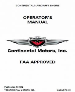 Continental Aircraft Engine Operator%u2019s Manual A & C and O-200 Series