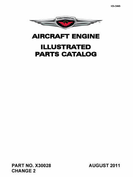 Continental Illustrated Parts Catalog IO-346 X30028