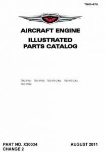 Continental Illustrated Parts Catalog TSIO-470 X30034