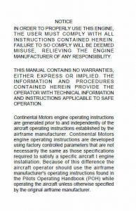 Continental Operators Manual GTSIO-520-L X30532.3