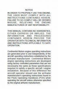 Continental Operators Manual X-30551 GTSIO-520-N.3