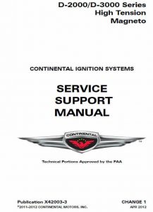 Continental Service Support Manual publication # X42003-3