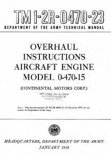 overhaul instructions aircraft engine model 0-470-15