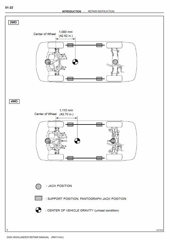 Toyota 2005 Highlander Repair Manual (RM1144U)